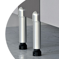 headrails fixings and floor mounts trident toilet partitions